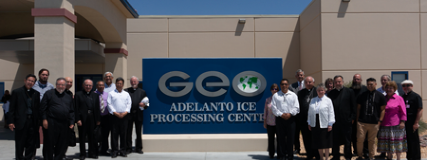 Delegation of seven California bishops and others visit ICE